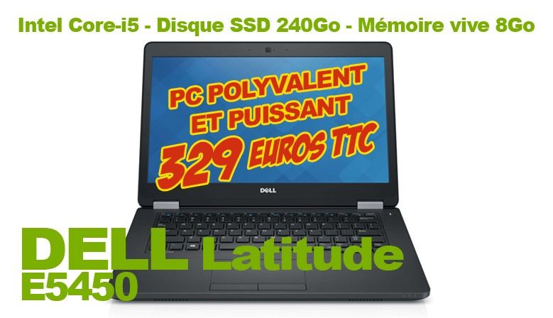 PC portable DELL Latitude E5450 windows 10