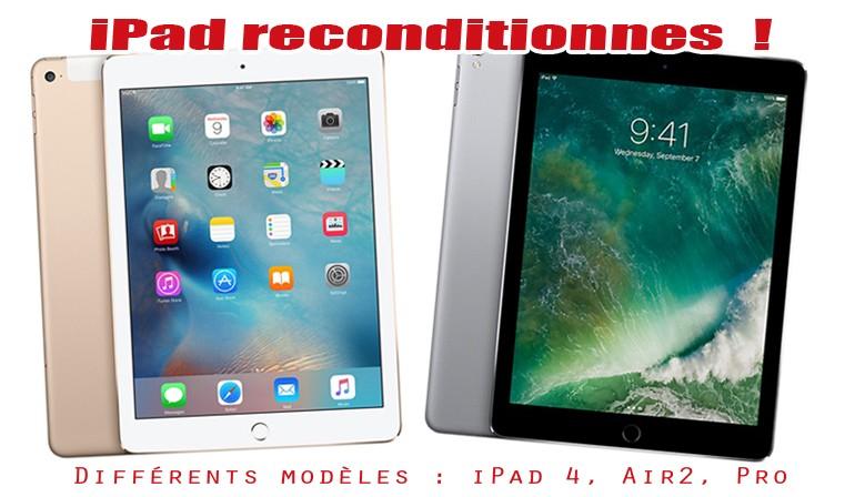 Arrivage d'iPad reconditionnés !